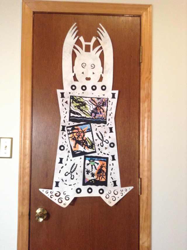 dressmaker on door